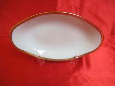 Ravier porcelaine LIMOGES style empire blanc rinceaux dorés no 2