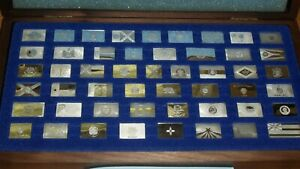 The Franklin Mint The Official Flags of the States Collection of Sterling Silver