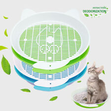 Sifting Cat Litter Box Pet Litter Pan Kitten Slotted Tray Toilet Clean Training