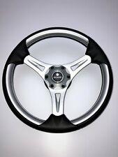 New OEM Gussi M067 Boat Steering Wheel Brushed Alum. Spoke Soft Touch Rim