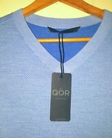 QOR Merino Wool Sweater Vest Mens Large NWT Light Blue