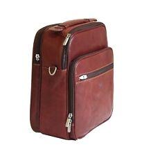 Leather Flight Travel Bag Tony Perotti Italian Full Grain Brown #TP-7058