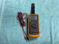 Lotb Pre Owned Fluke 87 V 87v True Rms Multimeter With Generic Leads