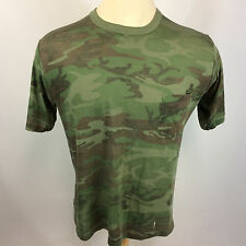 Vintage Distressed Paper Thin Trashed Camo Motorcycle Trucker Hunting T Shirt