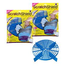 2 x Scratch Shield Grit Guard Adjustable Universal Wash Bucket Water Filter BLUE