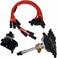 96 02 Chevy GMC VORTEC Distributor, 8mm Spark Plug Wires, Ignition Coil & Module