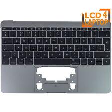 "Apple Macbook 12"" Retina A1534 Topcase Palmrest Grey With UK Keyboard 2016 2017"