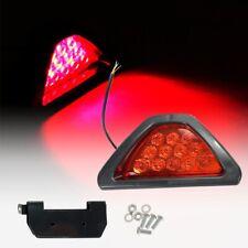 F1 12 LED Red Rear Tail 3rd Brake Stop Light Safety Fog Lamp Bumper BM A V