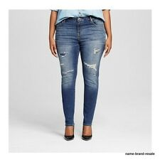 AVA & VIV NWT Womens PLUS Size 26W 26 4X Skinny JEANS Embroidered Patch Stitched