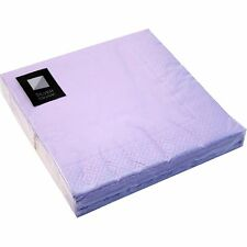 100 x Purple 3 Ply Paper Napkins 33cm Square Party Serviettes Tableware Catering