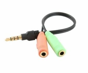 3.5mm Stereo Audio Mic Male to  Female Adapter Cable Combine Splitter Cord