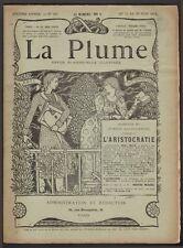 Revue La Plume. Numéro exceptionnel consacré à l'Aristocratie. 1894. Gourmont