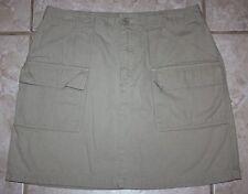 GAP Tan Khaki Color Surplus Short Mini Casual Cargo Skirt Length 17 Size 10