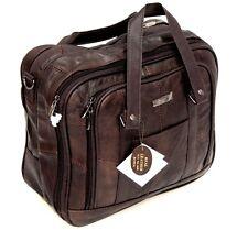 Mens Leather Business Laptop Case Travel Overnight Hand Luggage Shoulder Bag
