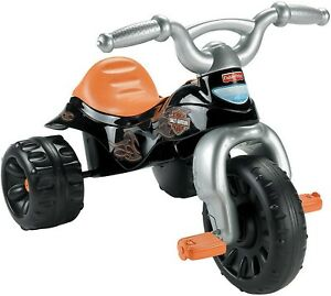 Fisher Price Harley Davidson Tough Trike - Kids Tricycle w/ Stickers