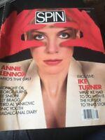 Spin Magazine, August 1985, Anne Lennox Cover IKE TURNER DEE SNIDER