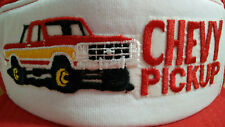 Young An Chevy Pickup Hat Mesh Trucker Cap Embroidered Snapback Spellout Vintage