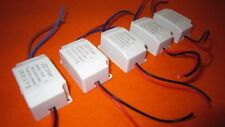 5 x LED Driver Transformer Power Supply 300MA 3V-12VDC 1X3W