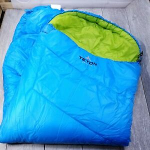 TETON Sports Cobalt Mummy Sleeping Bag Blue Warm Weather Right Zip