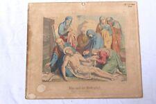 lehrtafel schulwandkarte um 1880 stahlstich coloriert jesus wird ins grab gelegt