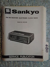 Sankyo scr-600 service manual original repair book am/fm digital clock radio