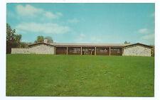 Beckley WV (10 mi west) Park Center Bldg Lake Stephens Recreational post card