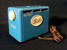 VINTAGE 1950 PEPSI COOLER OLD BLUE BAKELITE SODA COIN OP COLA MACHINE TUBE RADIO