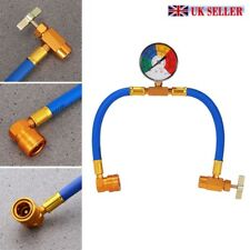 Car R134a Hose A/c Air Conditioning Refrigerant Recharge Hoses Tool With Gauge