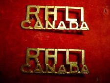 Royal Hamilton Light Infantry Regiment Shoulder Title Badge Pair - Canada WW2