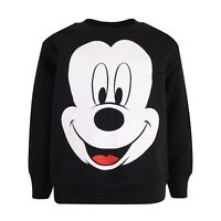 Disney - Mickey Mouse Face Kids Boys Girls Jumper Crew Neck Sweater - 3-14 Years