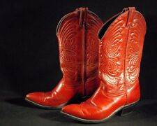 VINTAGE 1990's LAREDO RED LEATHER made in USA COWBOY WESTERN BOOTS WOMENS 7 Med.