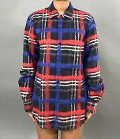 GOLDEN GOOSE Deluxe Brand Wool/Mohair Plaid Flannel Shirt Fits Medium