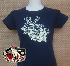 Ladies Navy Blue Rock-a-lilly Tshirt Size S, M, L, & XL
