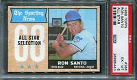 """1968 Topps #366 Ron Santo """"All Star"""" PSA 6 EX-MT"""