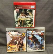 Lot 3x Sony PS3 Playstation 3 Uncharted 1, 2 ,3 Video Games