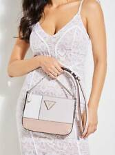 NWT Guess Kamryn Top zip Colorblock Crossbody purse Handbag White Pink