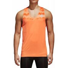 Adidas Men'S Adizero Running Singlet Vest Top New Ce0353 Size M