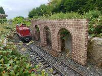 Arkadenmauer, neu, Spur G, für LGB Gartenbahn, Einzelstück, 600 mm x 200 mm