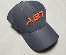 AEROPOSTALE A87 FLEXFIT Grey fitted cap / hat size Small/Medium Gray A87 Orange