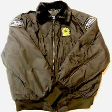 Allied Barton Security Services Jacket Mens XL Lined Wind Warm Long Sleeve