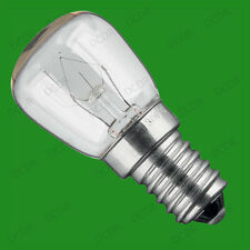 6x 25W Oven, Cooker, Pygmy SES Light Bulbs, E14, 300 Degree Heat Resistant Lamps