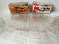 10 Pieces Protective Clear Plastic Box For Tomica Tomy Lesney Matchbox