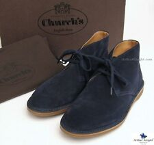 Church's Ladies Navy Blue Suede Desert Boots Rubber Sole UK 3.5