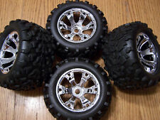 4- 5309 Traxxas 3.3 Revo Maxx Tires & 17mm Geode Wheels T-Maxx Summit E-revo 6.3