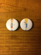 Beavis And Butthead 1 Inch Button Pair