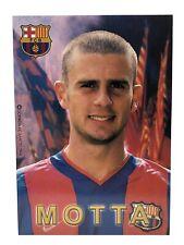 POSTAL THIAGO MOTTA FC BARCELONA 2002-2003 FOOTBALL POSTCARD BARÇA INTER