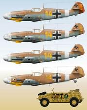 Lifelike 1/48 decal Messerschmitt Me 109 Pt 7 Tamiya Hasegawa Zvezda