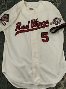 Rochester Red Wings Authentic Embroidered Jersey Silver Stadium Patch Baseball