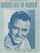 "JOHNNY REBB  Rare 1959 Aust Only OOP Orig Sheet Music ""Bluebirds Over The Mt"""
