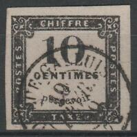 "FRANCE STAMP TIMBRE TAXE N° 1 "" 10c NOIR LITHOGRAPHIE "" OBLITERE A VOIR  N137"
